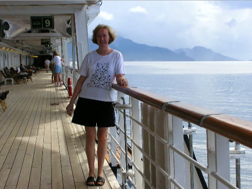 baby boomer on a cruise ship