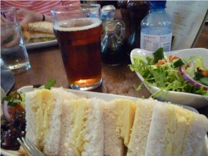 cheese sandwich in London pub