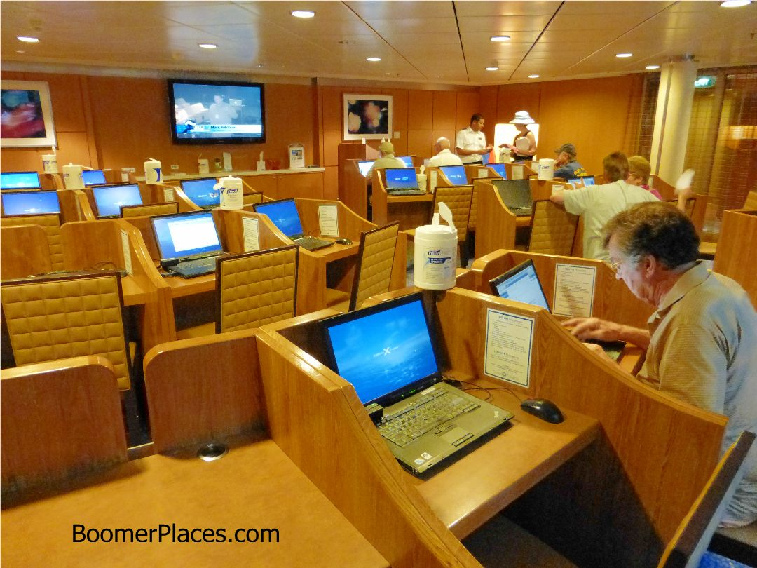 computer room aboard the Equinox
