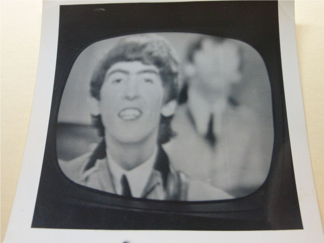 photo of George Harrison on Ed Sullivan