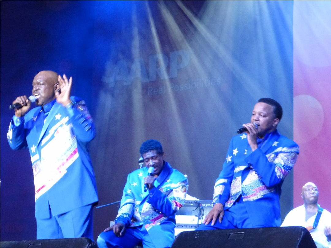 The Spinners perform at Lifeat50+ in Boston