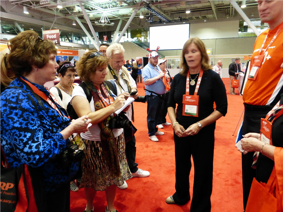 Boomer and travel bloggers get a tour of AARP providers