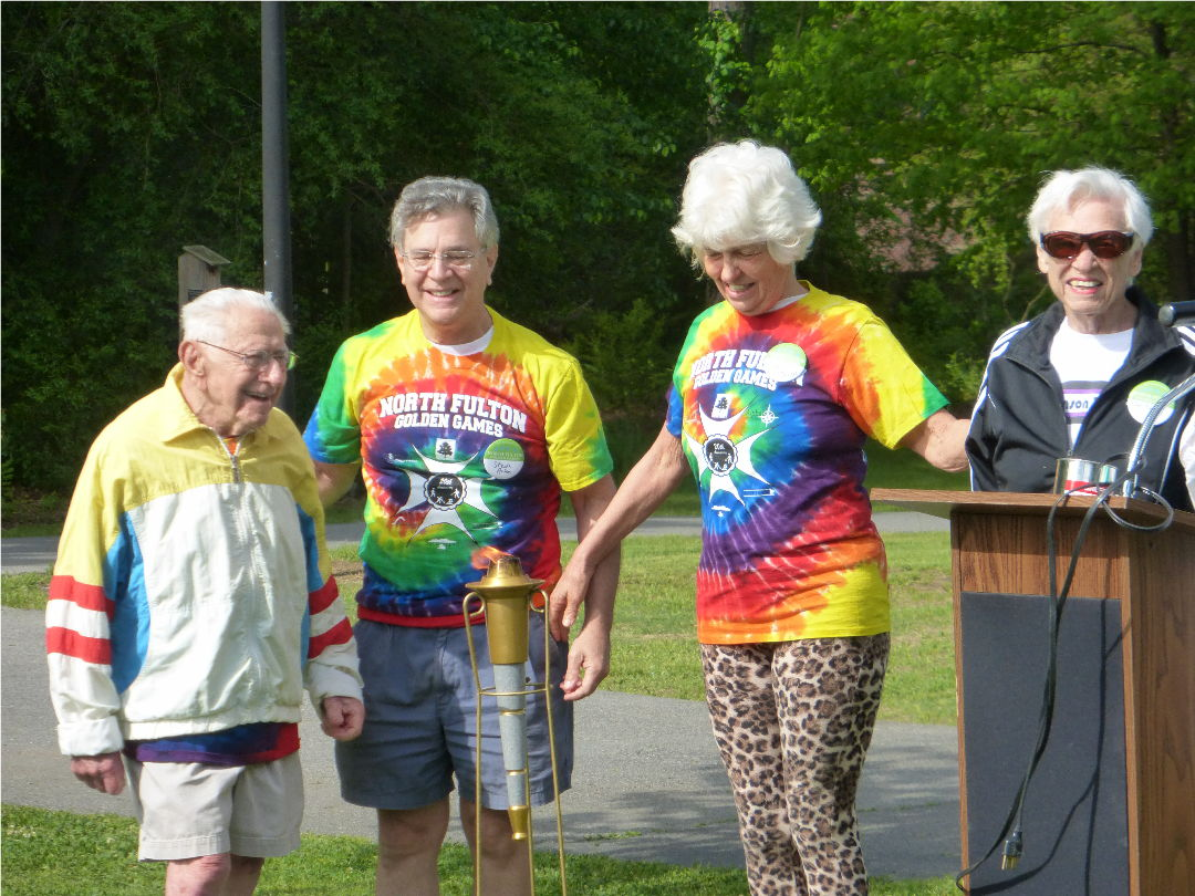 senior games torch ceremony