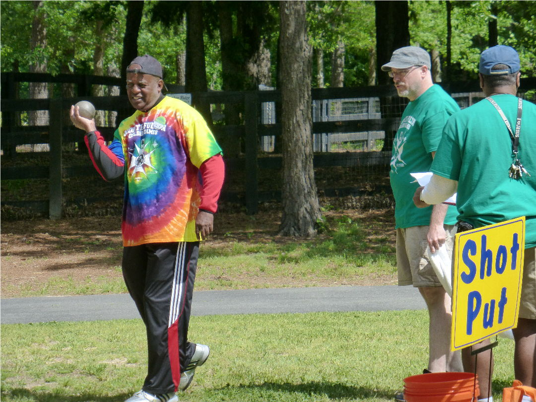 shot put at senior games