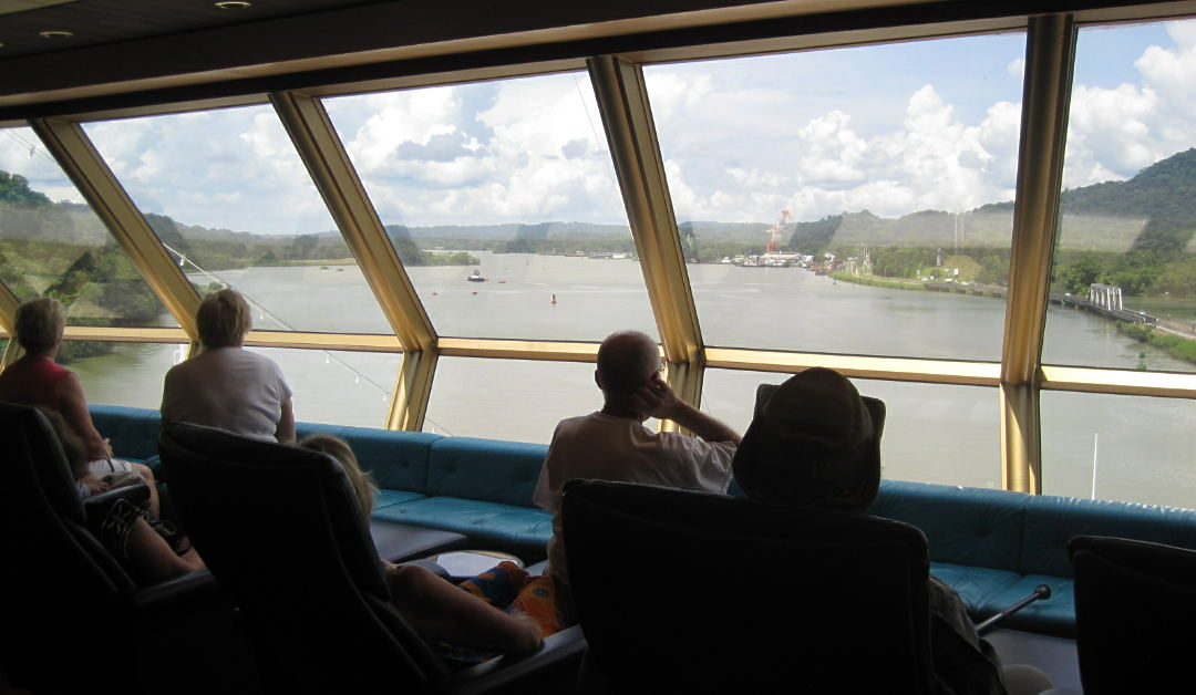 coming out of the Culebra Cut and into Gatun Lake