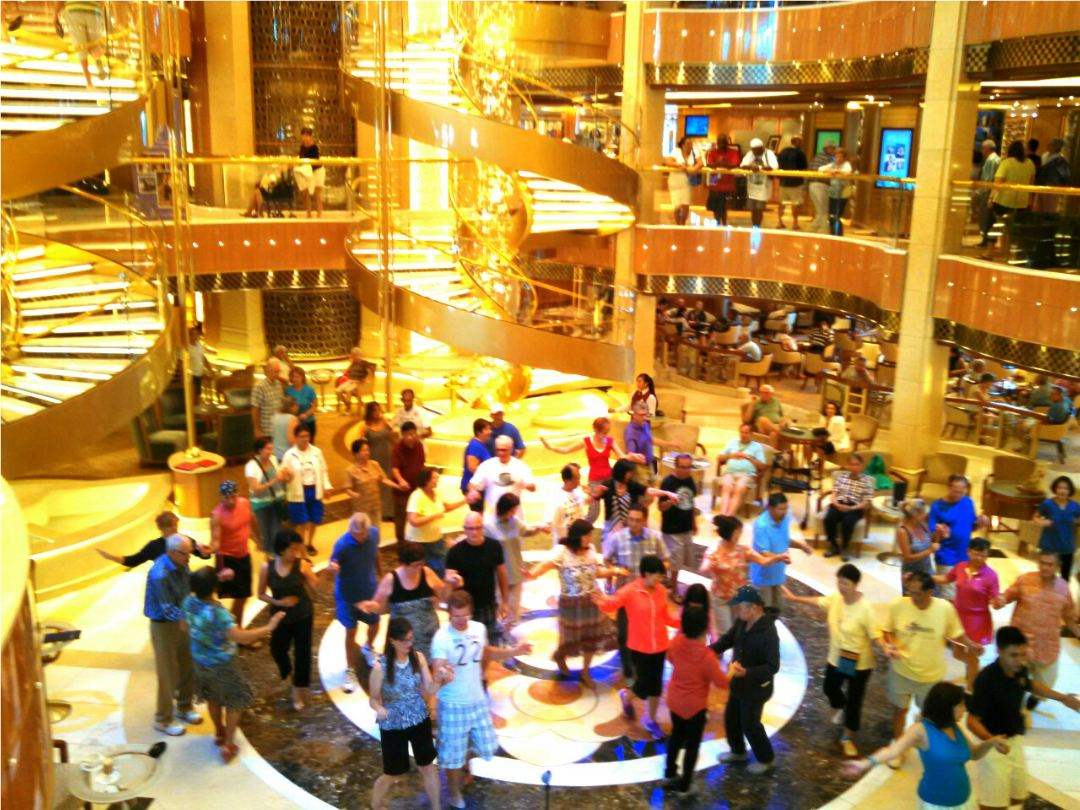 Atrium on Royal Princess cruise ship