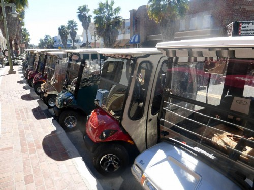 golf carts at The Villages