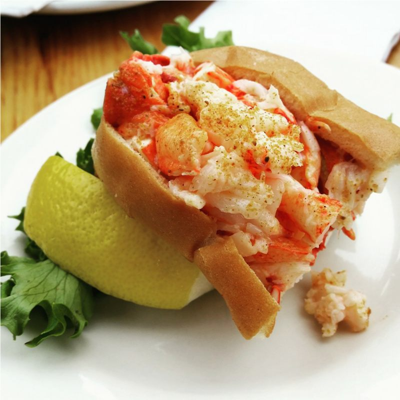 Lobster roll in Bar Harbor Maine