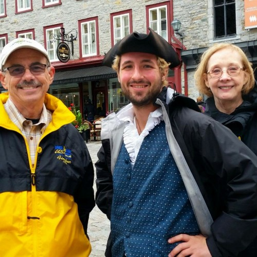 Robert and Mary Ann on tour in Quebec City