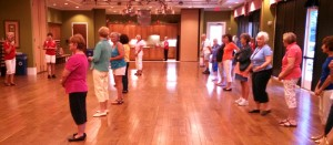Dance class at over 55 community